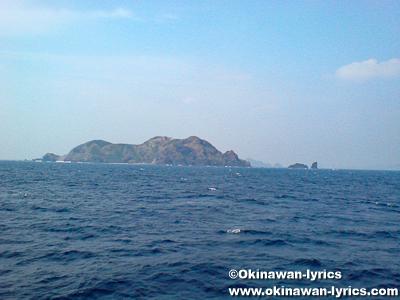 渡名喜島行きフェリーからの眺め