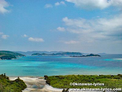 神の浜展望台@座間味島