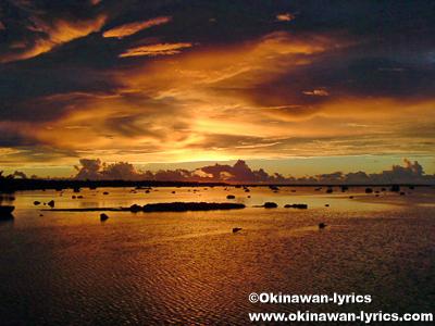 佐和田の浜の夕日@伊良部島