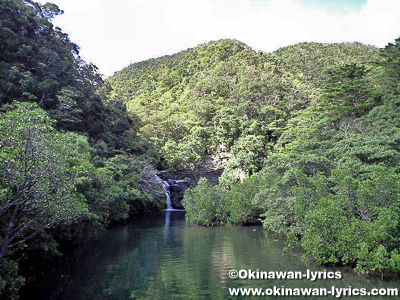 水落の滝@西表島