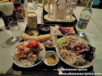 民宿たましろの夕食@波照間島