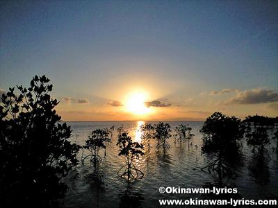 米原ビーチの夕日@石垣島