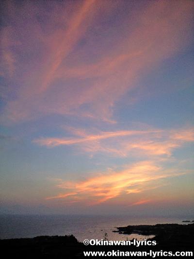 与論城跡の夕日@与論島