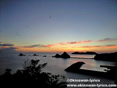西阿室の夕日@加計呂麻島