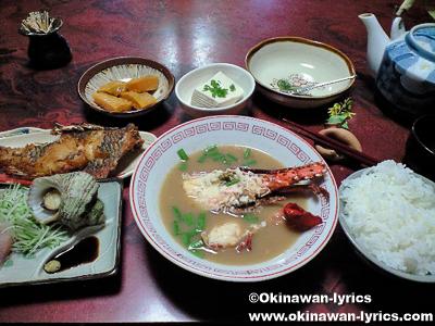 民宿の料理@請島