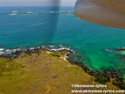イザベラ島からサンクリストバル島への飛行機(flight from Isabela island to San Cristóbal island by EMETEBE), ガラパゴス(Galapagos)