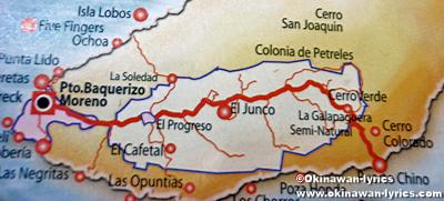 サンクリストバル島の地図(map of San Cristobal island)