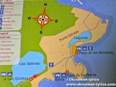 サンタクルス島の地図(map of Santa Cruz island)