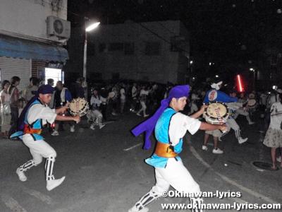 沖縄市園田青年会のエイサー