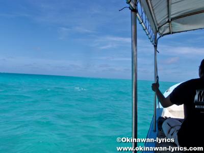 定期船でコロール島からカヤンゲル島へ(public boat from Koror island to Kayangel island)