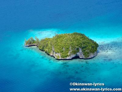 クジラ島(Whale island), ヘリコプター遊覧(helicopter sightseeing)@パラオ(Palau)