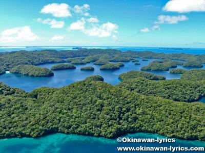 マカラカル島(Macharchar island), ヘリコプター遊覧(helicopter sightseeing)@パラオ(Palau)