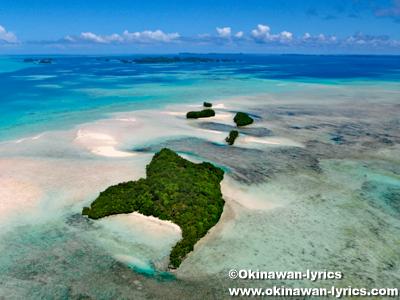 カープ島(Carp island), ヘリコプター遊覧(helicopter sightseeing)@パラオ(Palau)