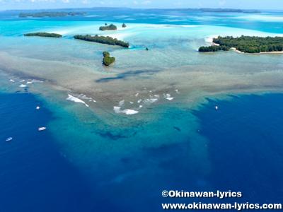 ガムリス島周辺, ヘリコプター遊覧(helicopter sightseeing)@パラオ(Palau)