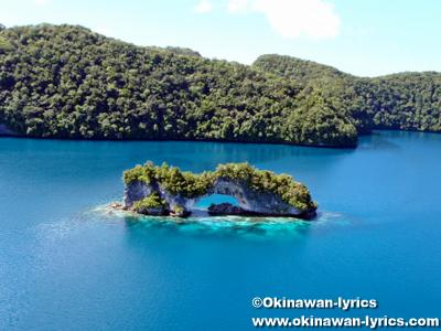 ナチュラルアーチ(Natural Arch), ヘリコプター遊覧(helicopter sightseeing)@パラオ(Palau)