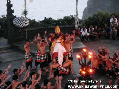 ケチャックダンス(Kecak Dance)@ウルワトゥ寺院(Pura Luhur Uluwatu)