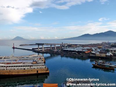 Manado port from Hotel Celebes