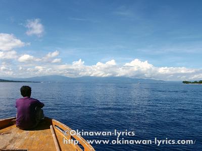 public boat from Bunaken island to Sulawesi island