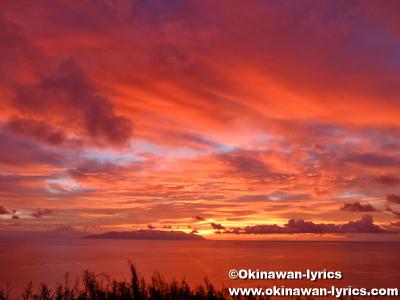 フリイ岳展望台の朝焼け@口之島, トカラ列島