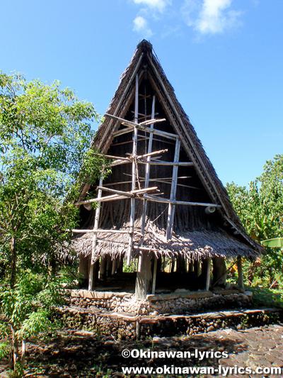 メンズハウス(men's house)@ルムング島(Rumung Is.)