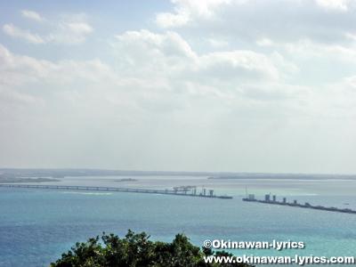 牧山展望台から見た伊良部大橋@伊良部島