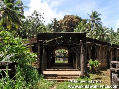 夏島(Tonoas Is., Dublon Is.)の南洋庁トラック病院跡