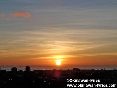 首里城の夕日