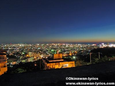 首里城(西のアザナ展望台)からの夜景