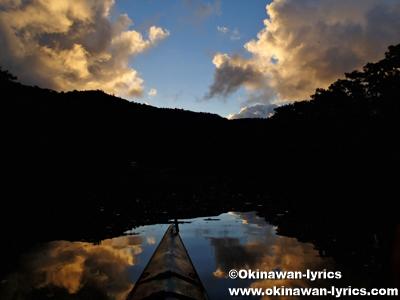 カヤックでサガリバナ鑑賞(仲良川)、西表島