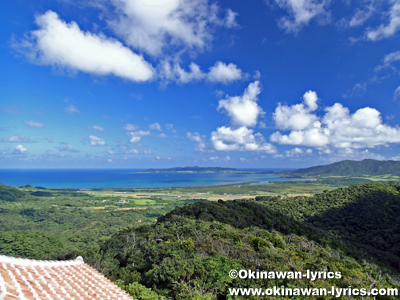 エメラルドの海を見る展望台@石垣島