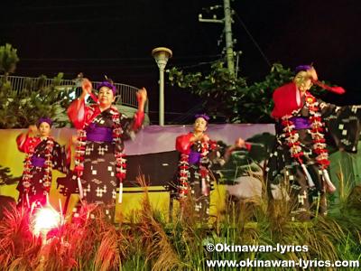 琉球舞踊(貫花@)首里汀良町十五夜獅子舞