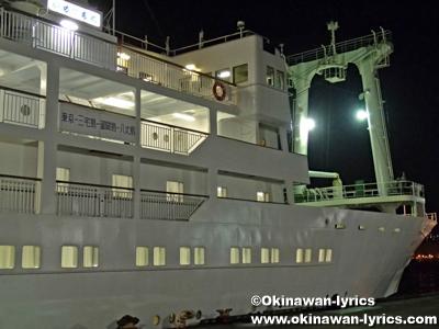 御蔵島行きフェリー(かめりあ丸)