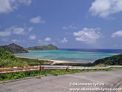 渡名喜島をスクーターで一周:南...