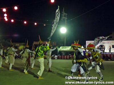 糸満市喜屋武青年会のエイサー@喜屋武エイサー盆踊りの夕べ
