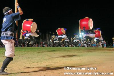 北中城村熱田青年会のエイサー@第19回宜野湾市青年エイサー祭り