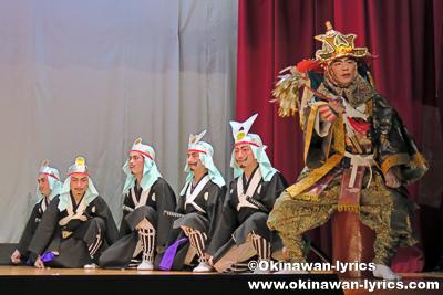 組踊(久志の若按司)@名護市屋部の八月踊り