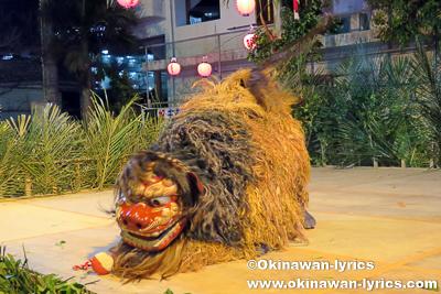 那覇市首里末吉町の獅子舞(タチゲーイ)@首里末吉町十五夜祭