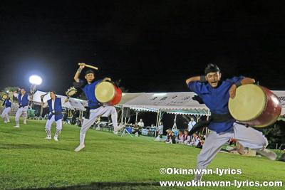 北中城村島袋青年会のエイサー@第5回グスクの響き祭り