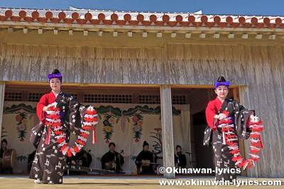 琉球舞踊(貫花)@首里城公園新春の宴(琉球芸能の宴)