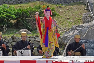 琉球舞踊(稲まづん節)@公事清明祭,伊是名島