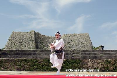 琉球舞踊(鳩間節)@中城城跡