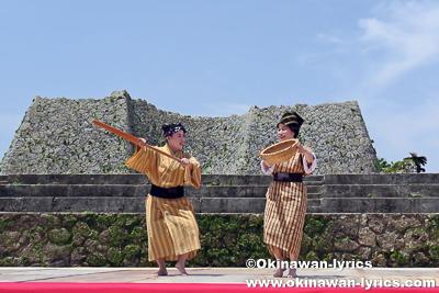 琉球舞踊(谷茶前)@中城城跡
