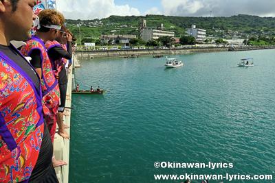 流れ船(三番バーリー)@奥武島海神祭