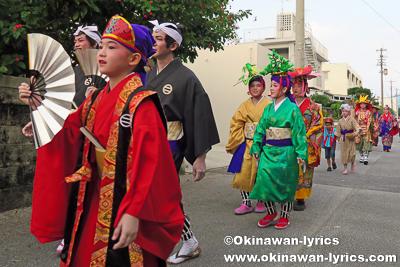 道ジュネー@名護市宮里の豊年祭