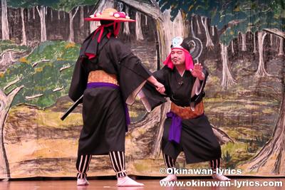組踊(西南敵討)@名護市宮里の豊年祭