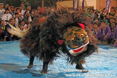 首里汀良町の獅子舞@第51回琉球王朝祭り首里