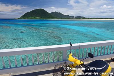レンタバイクで伊平屋島と野甫島を周遊