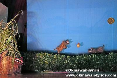 子獅子舞(操り獅子)@名護市川上区豊年祭