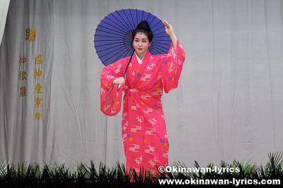 日笠踊り@今帰仁村湧川区豊年祭