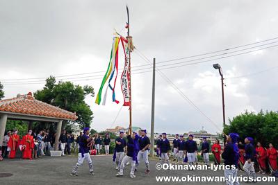 旗頭@宜野座の八月あしび(豊年祭)